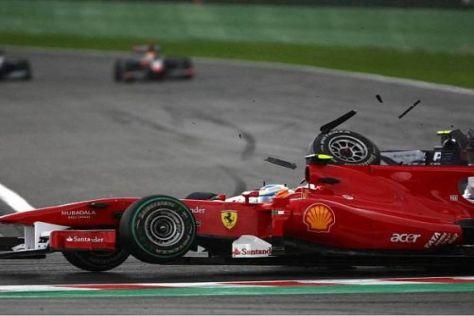 Fernando Alonso konnte trotz des heftigen Crashs weiterfahren