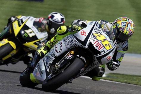 Valentino Rossi klassierte sich in Indy direkt hinter Jorge Lorenzo auf Position vier