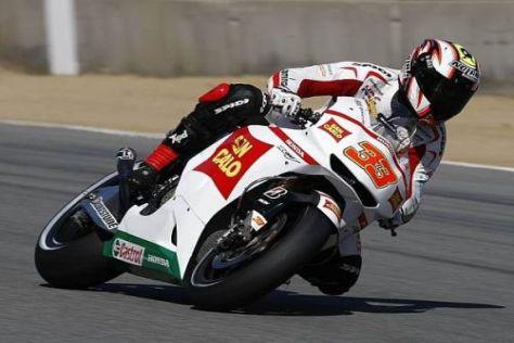 Marco Melandri kommt derzeit mit der Honda RC212V nicht klar