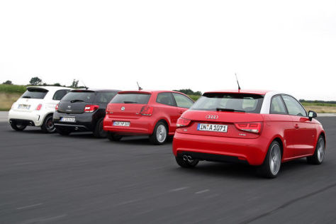 Audi A1 Citroën DS3 Fiat 500 VW Polo