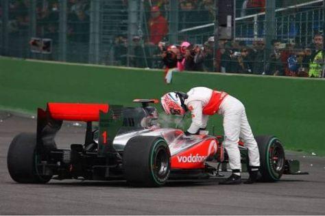 Jenson Button hat in Belgien wichtige Punkte auf dem Weg zur WM verloren