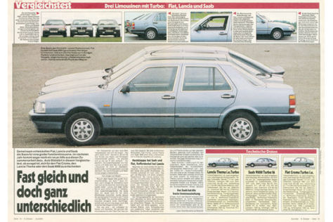 Lancia Thema Saab 9000 Fiat Croma