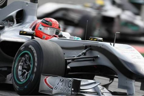 Michael Schumacher und Nico Rosberg wollen in Monza in die Punkte