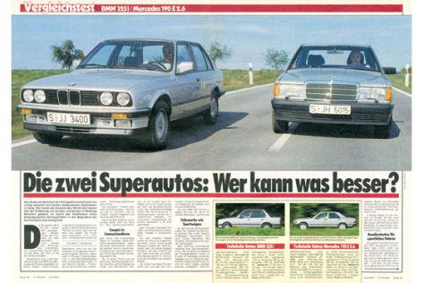 BMW 325i MB 190 E 2.6