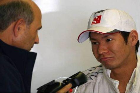 Bilden auch 2011 ein Team: Teamchef Peter Sauber (l.) und Kamui Kobayashi
