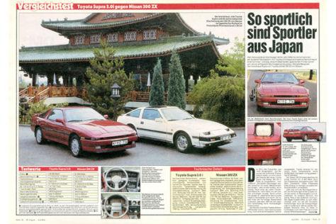 Vergleich Toyota Supra 3.0i Nissan 300 ZX