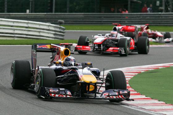 Sebastian Vettel in seinem Red Bull 2010