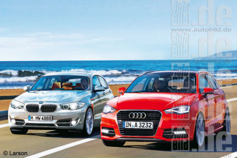 BMW 1er Audi A3 Illustration
