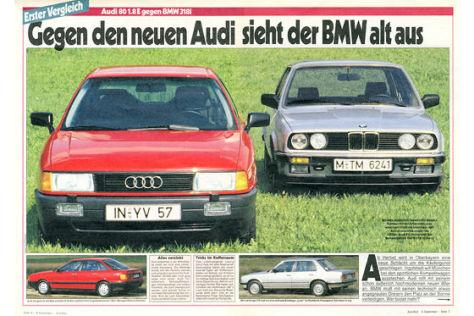 Audi 80 BMW 318i