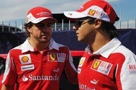 Bahn frei für weitere Platzwechsel: Fernando Alonso und Felipe Massa