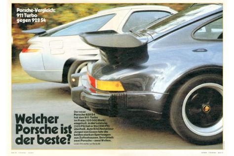 Porsche 911 Turbo gegen 928 S4