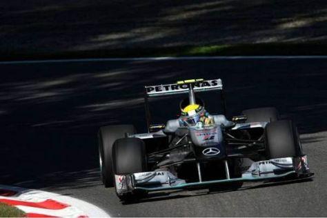 Nico Rosberg in Monza: Der Top-Speed des Mercedes ist gut
