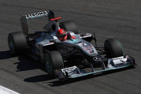 Schumacher kämpfte mit dem Setup, den Reifen und dem Teamkollegen