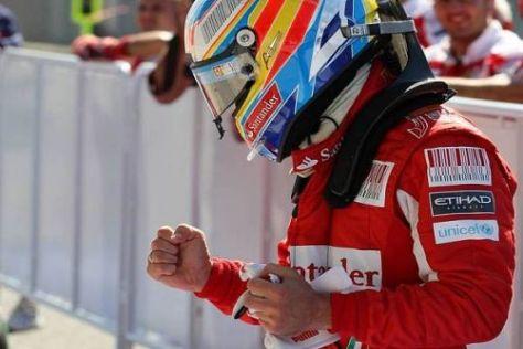 Fernando Alonso jubelt über das Ende der langen Pole-Durststrecke