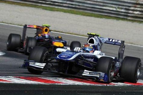 Im Kampf gegen Mark Webber fuhr Nico Hülkenberg auf der letzten Rille
