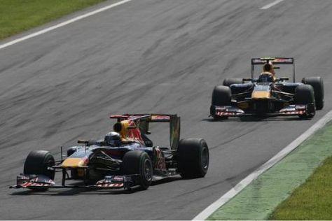 Sebastian Vettel musste wegen Problemen Mark Webber passieren lassen