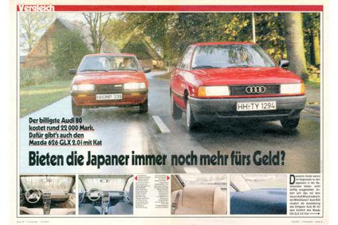 Audi 80 Mazda 626 GLX 2.0i