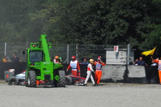 Lewis Hamilton in Monza nach seinem Unfall