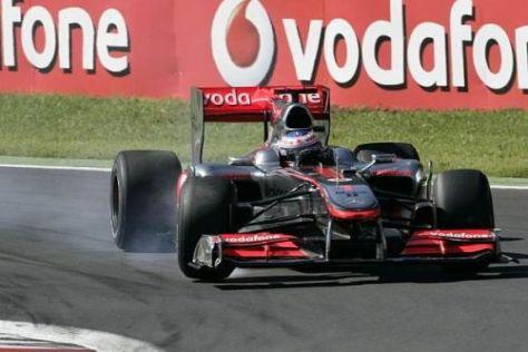 Jenson Button war in Monza nicht immer als Reifenflüsterer unterwegs