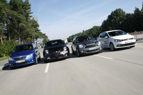 Alfa Romeo Mito/Mini Cooper S/Skoda Fabia RS/VW Polo GT