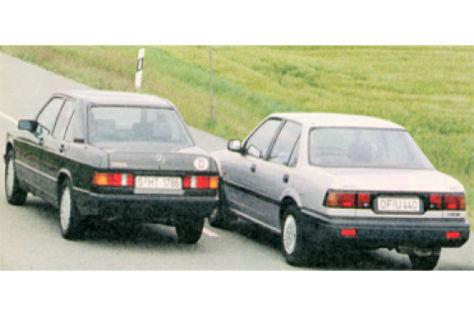 Honda Accord 2.0 EX i und Mercedes 190 E