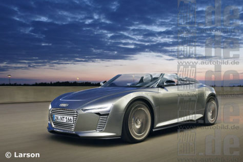 Illustration: Audi e-tron Spyder