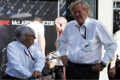 Grand-Prix-Chef Ron Walker (rechts) mit Formel-1-Promoter Bernie Ecclestone