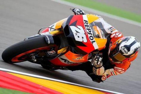 Begnügte sich im Rennen von Alcañiz mit Platz zwei: Dani Pedrosa
