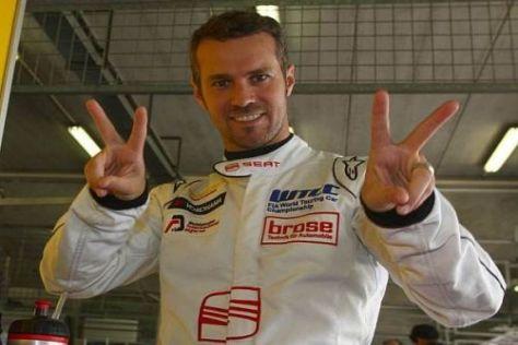 Tiago Monteiro drückt Mark Webber die Daumen - und feierte just einen Laufsieg