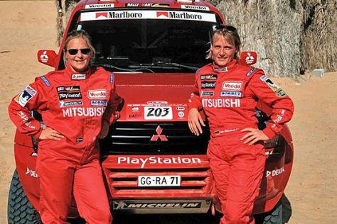 Jutta Kleinschmidt und Tina Thörner