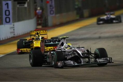Nico Rosberg konnte sich im Rennen um zwei Positionen nach vorn arbeiten