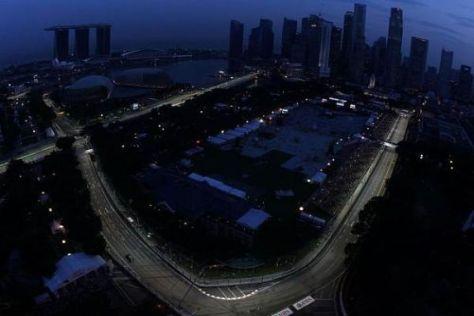 Singapur ist nicht nur durch die Scheinwerfer ein Glanzlicht im Kalender