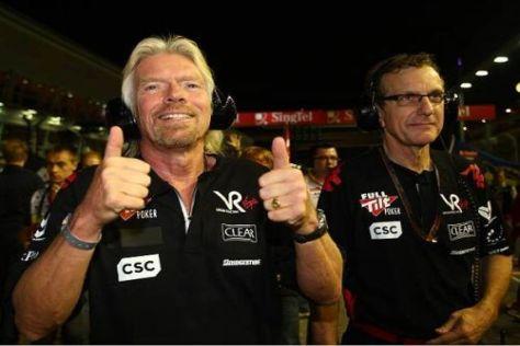 Virgin-Besitzer Richard Branson hat das Spektakel beim Nachtrennen gefallen