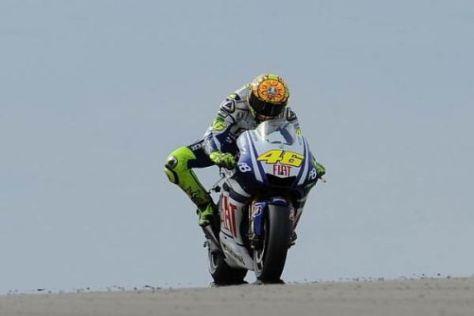 Valentino Rossi geht in seine letzten Rennen mit der Yamaha M1
