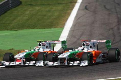 Die Force-India-Piloten wollen am liebsten im Paarflug vor Williams fahren