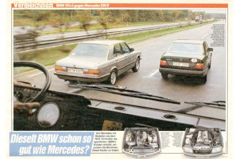 BWM 524d gegen Mercedes 250D