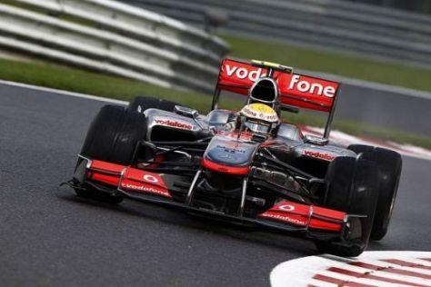 Am McLaren von Lewis Hamilton musste das Getriebe ausgetauscht werden