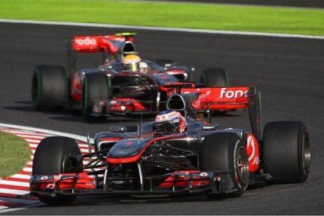 Button kam wegen der Getriebeprobleme bei Hamilton am Teamkollegen vorbei