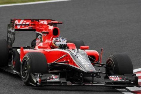 Virgin-Pilot Timo Glock schaffte in Suzuka sein bestes Saisonresultat