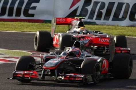 Jenson Button und Lewis Hamilton mussten sich in Japan hinter den Rivalen einreihen