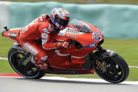 Casey Stoner fährt in diesem Jahr noch auf Ducati, sitzt 2011 aber auf einer Honda