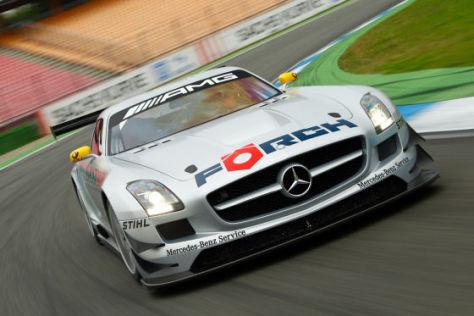 Mercedes SLS AMG GT3 Tracktest Hockenheimring