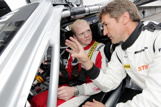 Mercedes SLS AMG GT3 Tracktest Hockenheimring Martin Westerhoff Bernd Schneider