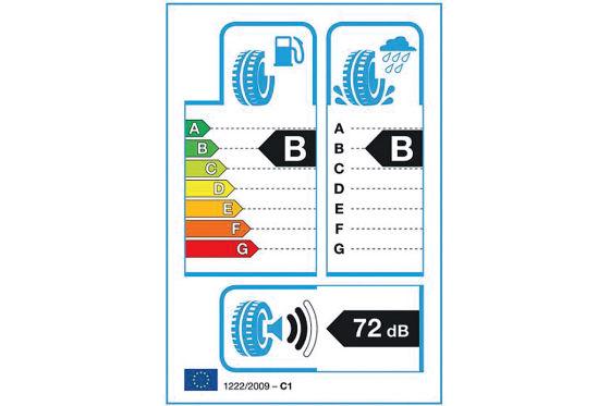 Wie beim Haushaltsgerät: Der Effizienz-Sticker liefert wichtige Infos über den Energieverbrauch des Reifens.