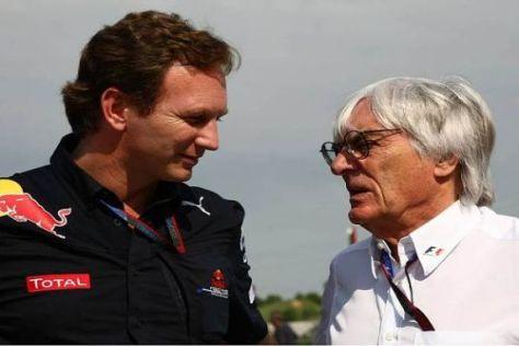 Christian Horner und Bernie Ecclestone: Diskussionsbedarf in Sachen Wochenden
