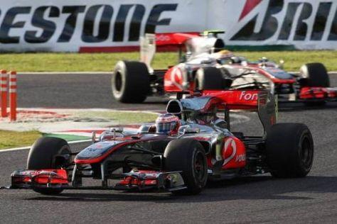 Jenson Button und Lewis Hamilton müssen um Anschluss kämpfen