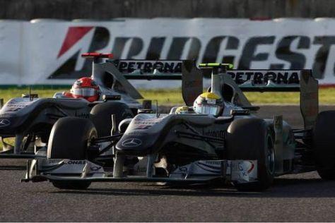 In Suzuka lieferten Sich Nico Rosberg und Michael Schumacher ein tolles Duell