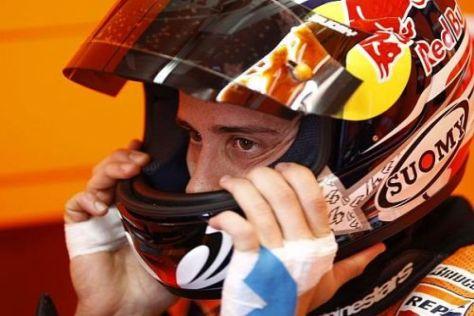 Andrea Dovizioso guckte nach seinem Ausfall traurig aus der Wäsche