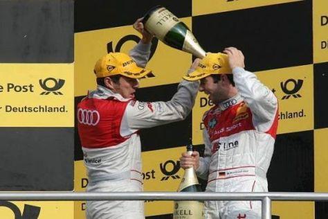 Timo Scheider und Mike Rockenfeller fuhren für Audi auf das Podium