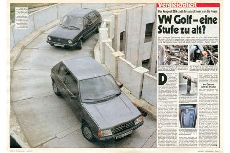 VW Golf Peugeot 205